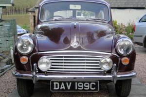 Maroon Morris Minor 1000 Traveller 1965