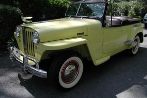 1948 Willys Jeepster, overdrive, 4cyl, A+ restoration, show quality,A+mechanical