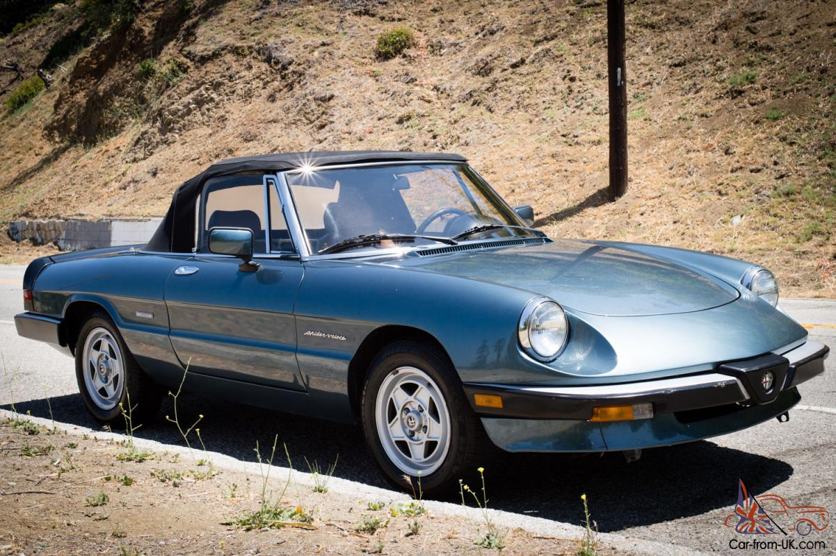 excellent condition 1986 alfa romeo spider veloce from. Black Bedroom Furniture Sets. Home Design Ideas