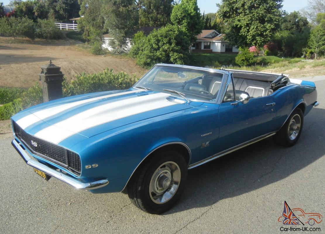 1967 chevy camaro convertible rs ss big block 4 speed marina blue 1968 1969. Black Bedroom Furniture Sets. Home Design Ideas