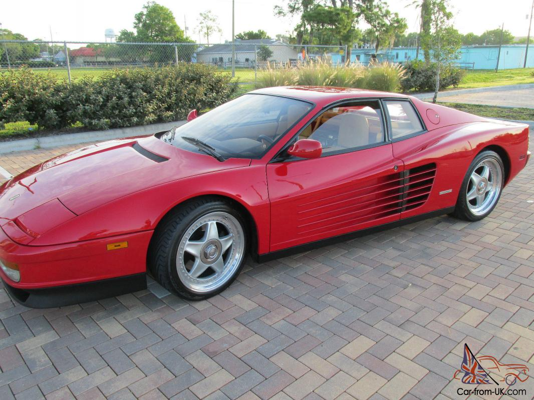 1987 Ferrari Testarossa Plus 15k In Extra S Luggage