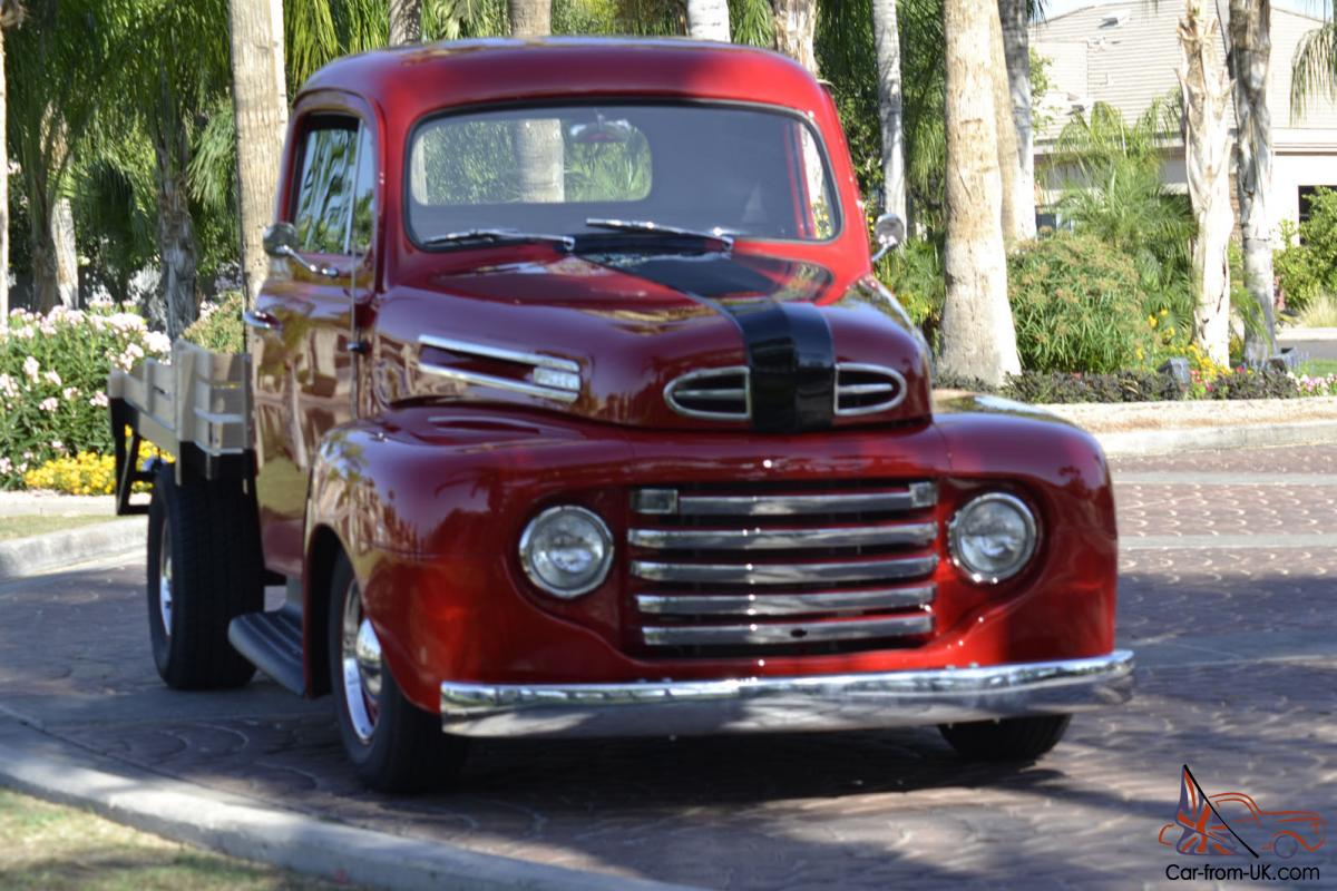 1948 ford f1 stakebed pickup truck streetrod for sale