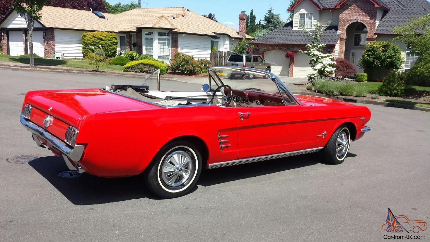 1966 ford mustang convertible 289 v8 automatic. Black Bedroom Furniture Sets. Home Design Ideas
