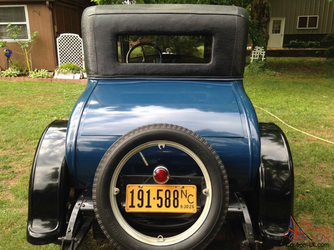 Star By Durant Motors 1926 Original Condition Not Ford