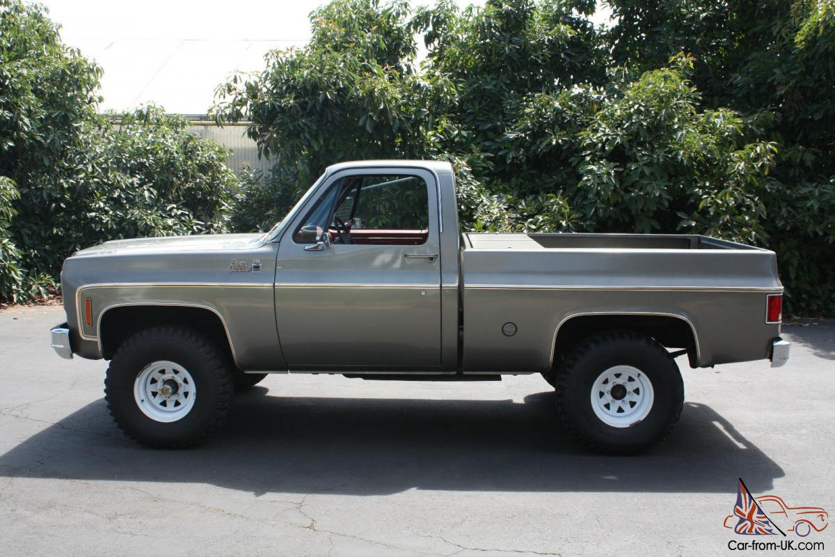 1977 gmc chevy k 10 truck 4x4 short bed 4spd rare. Black Bedroom Furniture Sets. Home Design Ideas