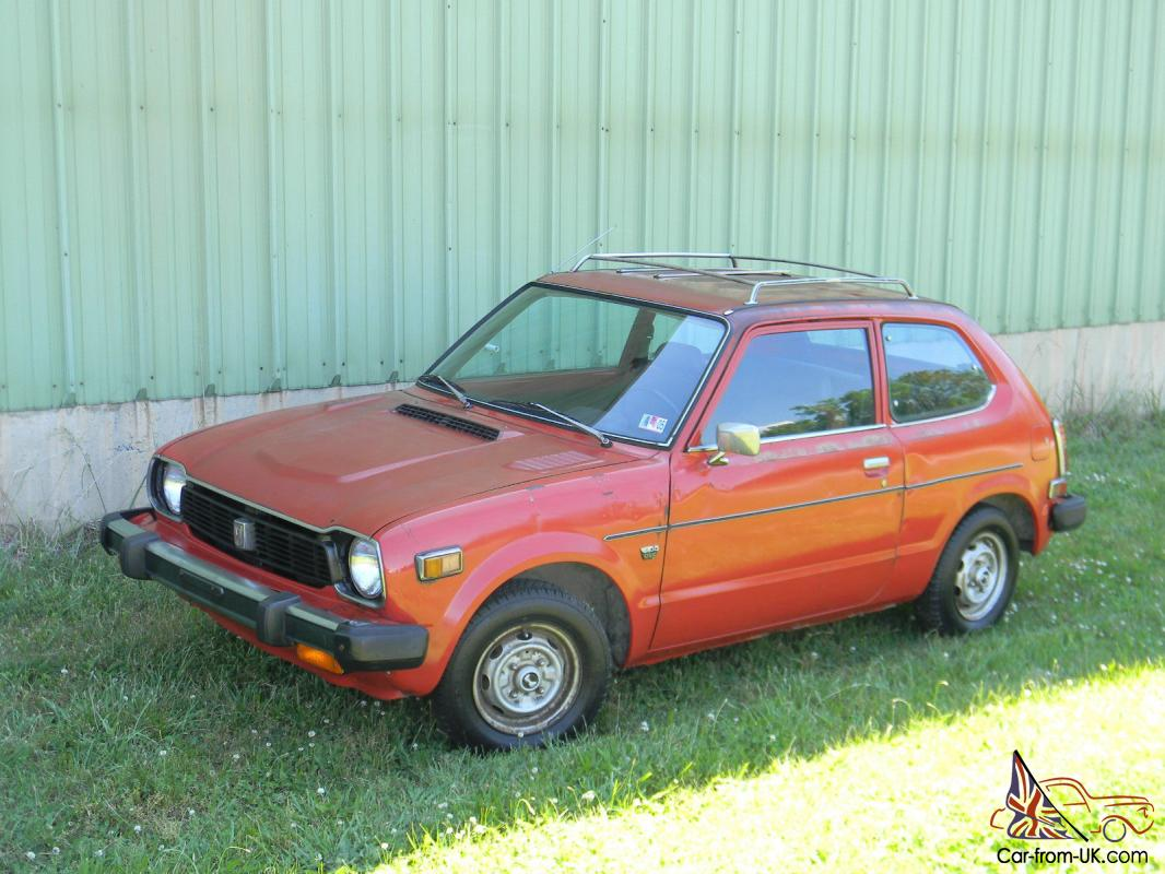 1978 honda civic little red all original For1978 Honda Civic