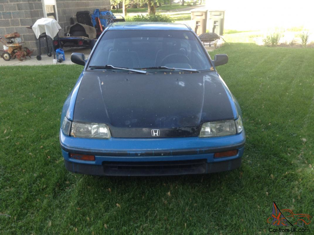 1988 Honda CRX HF MPG High Fuel Gas Sipper, Lots Of New Parts, 218K ...
