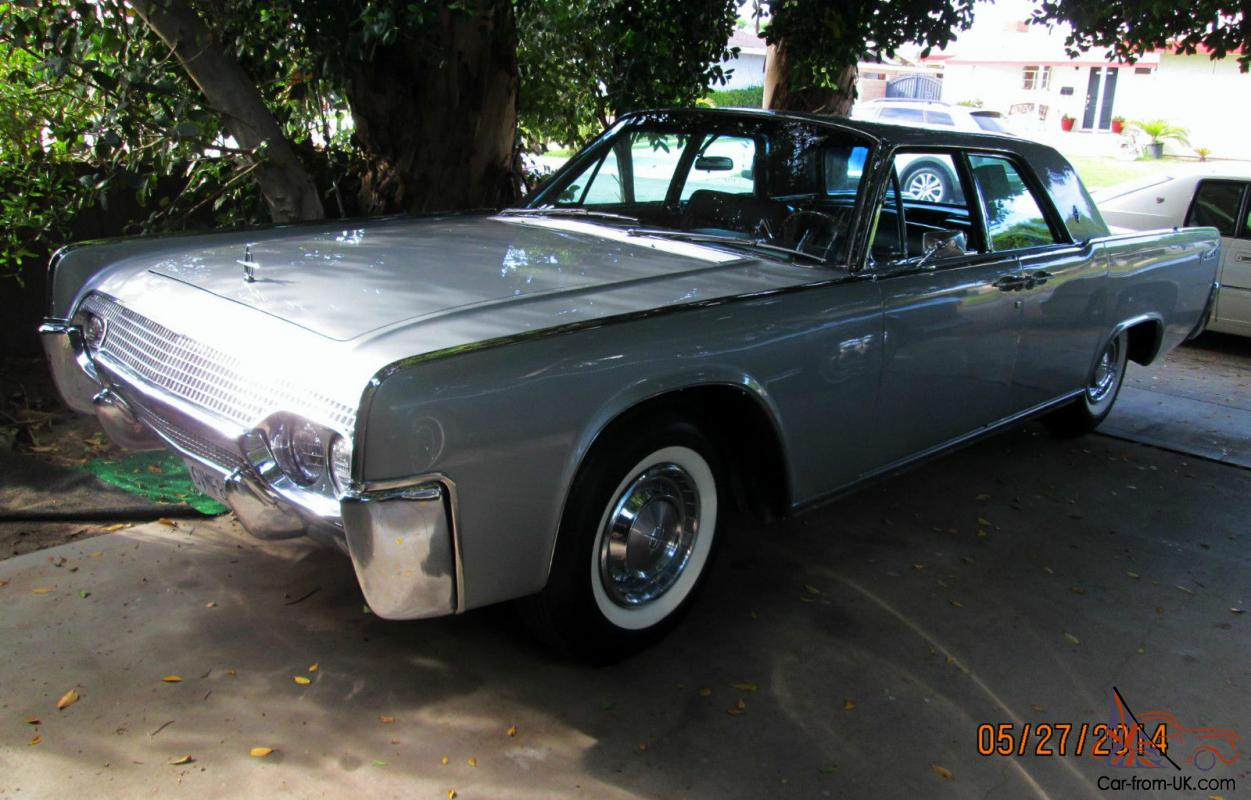 FABULOUS CLIC 1961 LINCOLN CONTINENTAL SILVER SUICIDE 4-DOOR ...
