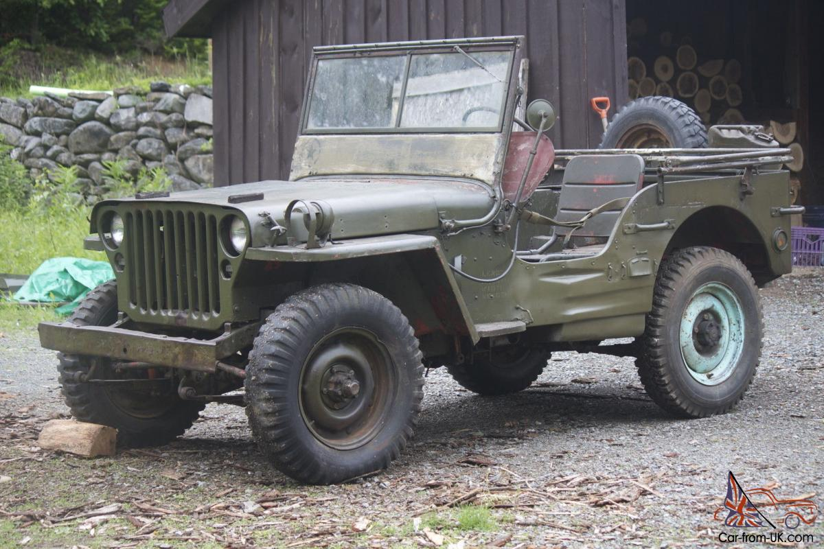 1945 willys jeep ford gpw wwii military jeep army unrestored. Black Bedroom Furniture Sets. Home Design Ideas