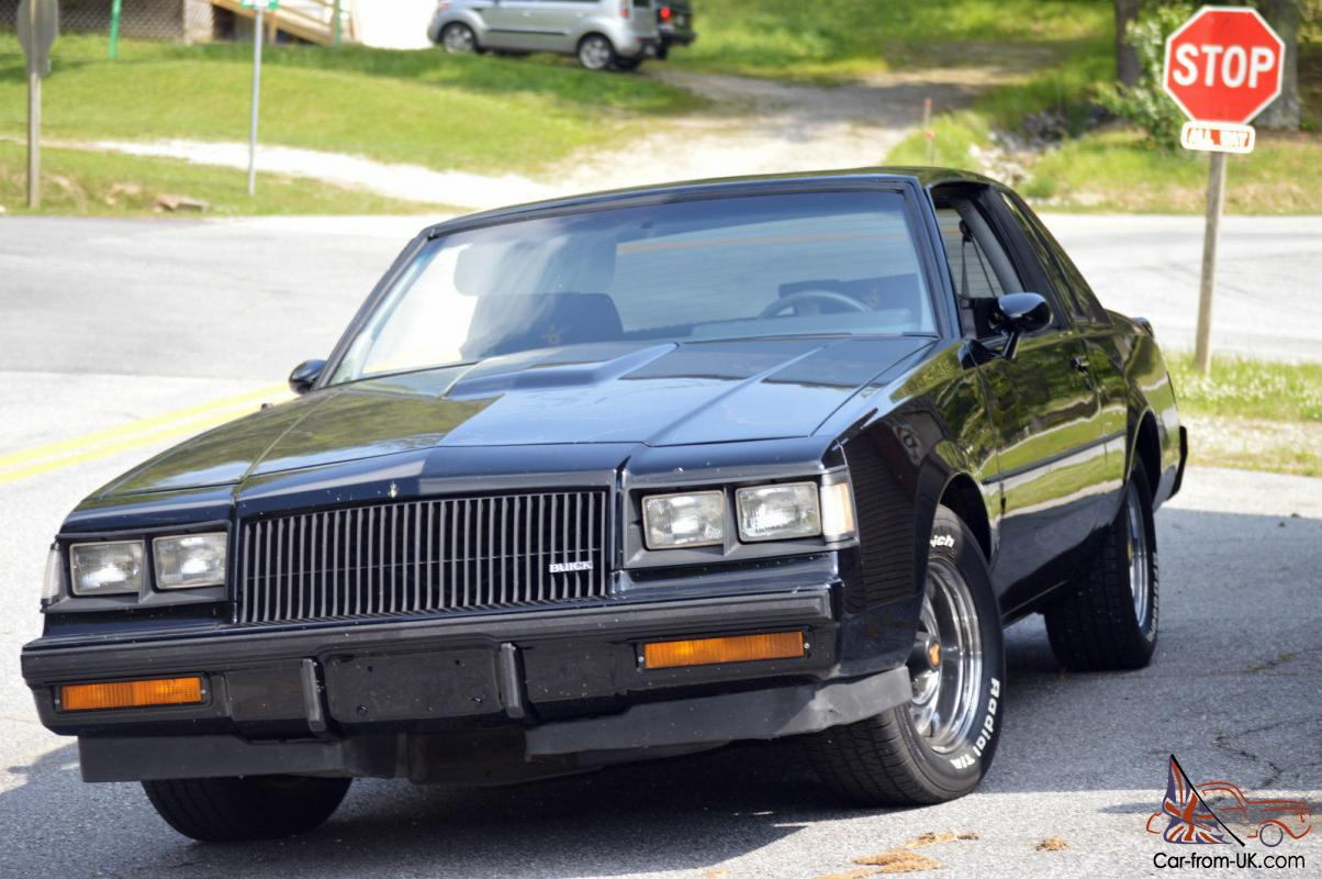1987 buick regal grand national coupe 2 door 3 8l turbocharged a c sun roof. Black Bedroom Furniture Sets. Home Design Ideas
