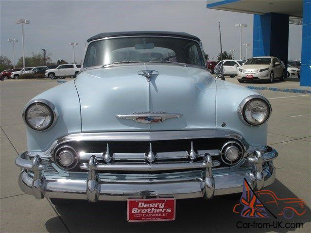 1953 chevy bel air convertible light blue white walls. Black Bedroom Furniture Sets. Home Design Ideas
