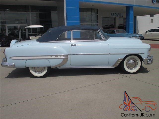 Deery Brothers Chevrolet >> 1953 CHEVY BEL AIR CONVERTIBLE LIGHT BLUE WHITE WALLS ...