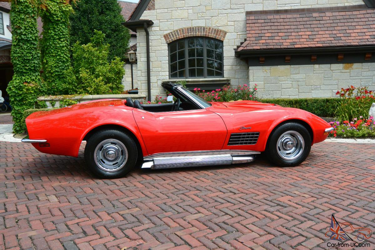 1971 Lt1 Corvette Matching S Beautifully Red Stingray Convertible Photo