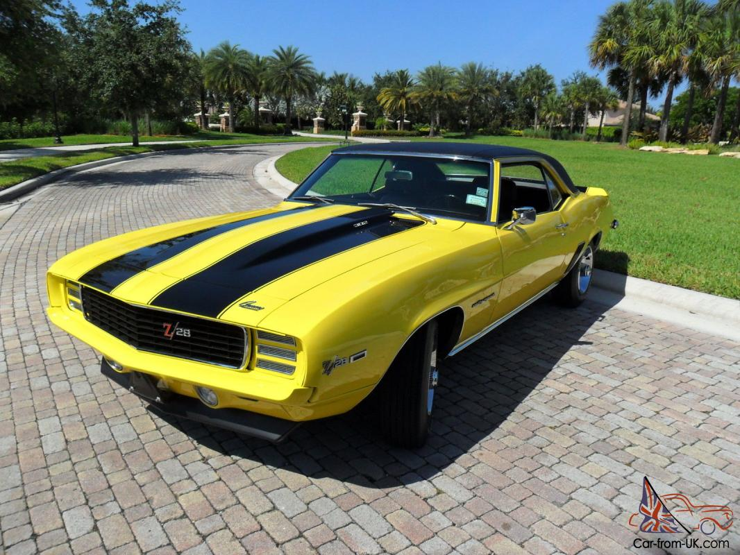1969 Camaro Z28 Rs Numbers Matching Fully Documented