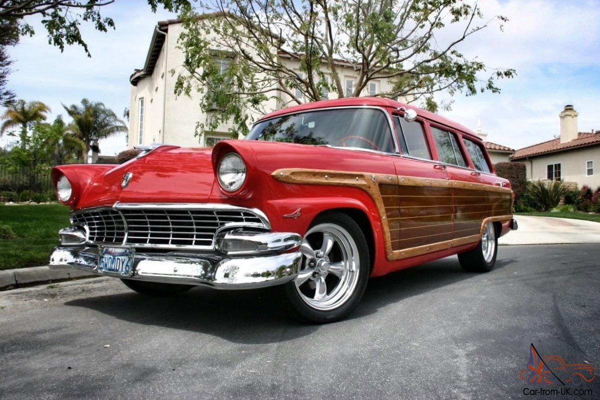1955 ford country squire station wagon woodie woody for