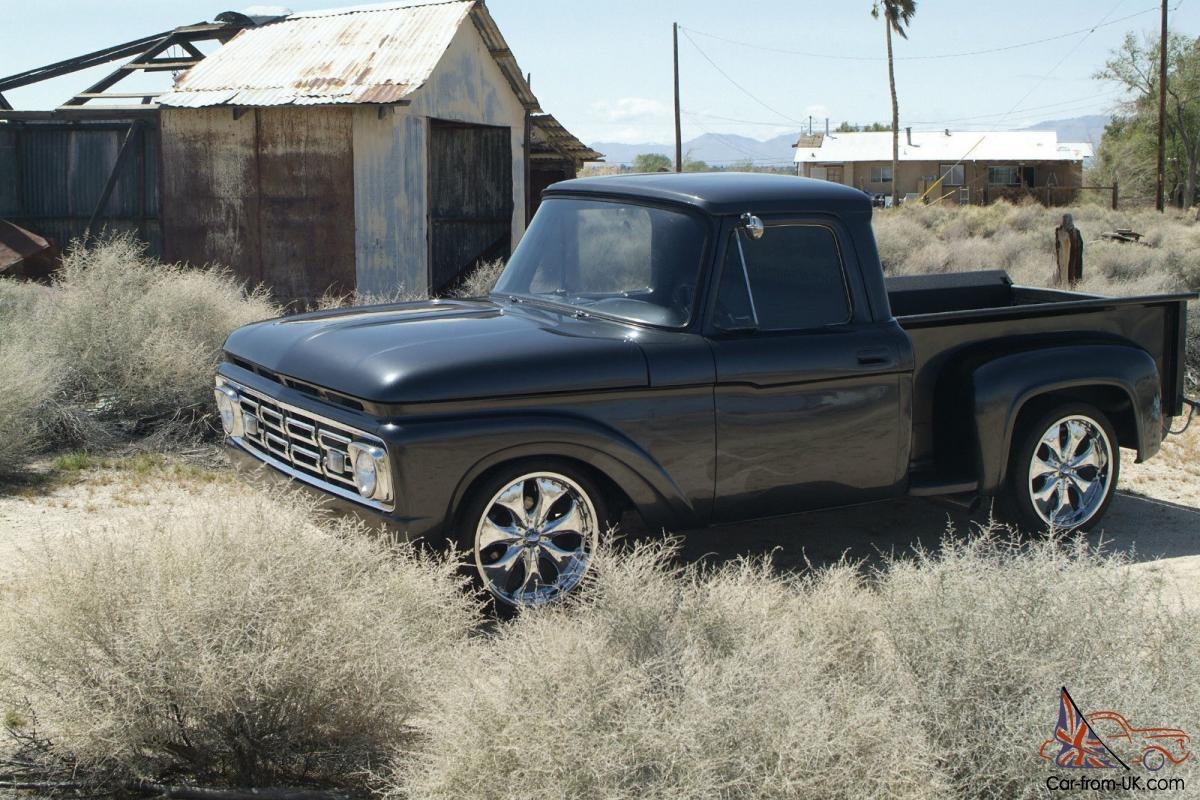 1964 ford f100 custom show truck f 100 chevy 3100 apache pickup. Black Bedroom Furniture Sets. Home Design Ideas