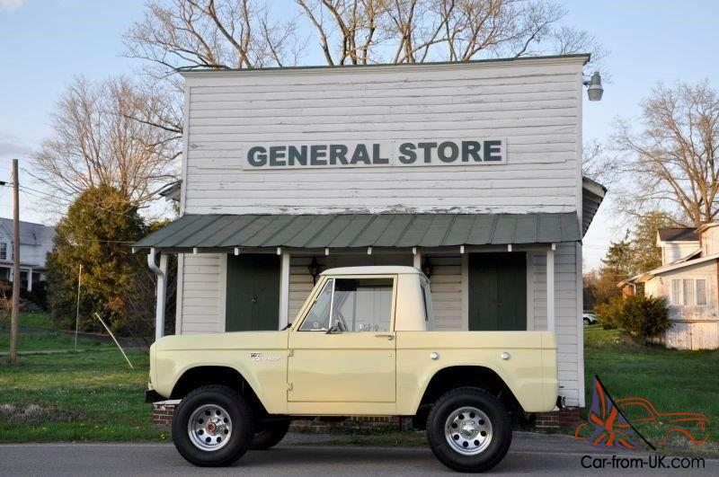 1969 CLASSIC FORD EARLY BRONCO HALF CAB FRAME OFF RESTORATION 4X4 LIFTED