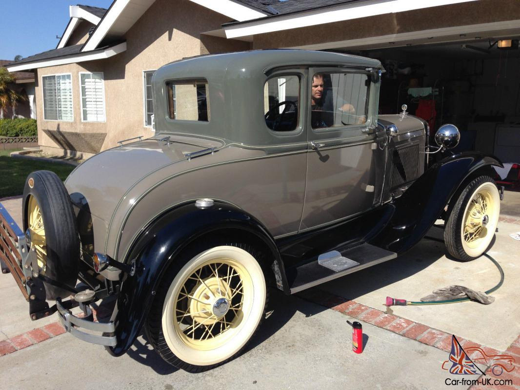 1931 ford model a 5 window coupe hot rod rat 32 frame chopped top all