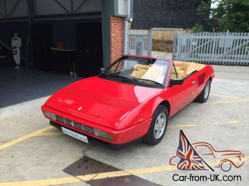 1986 ferrari mondial 3 2 quattrovalvole cabriolet fsh. Black Bedroom Furniture Sets. Home Design Ideas