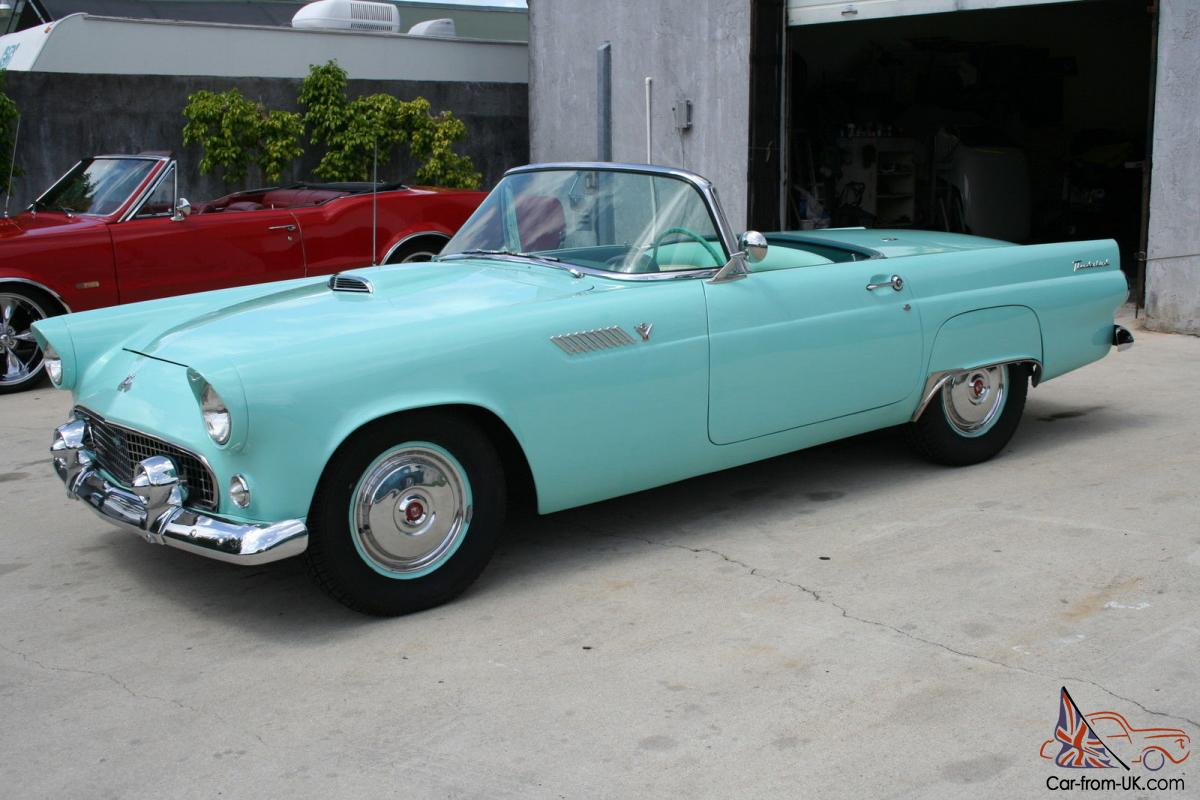 1955 ford thunderbird dual exhaust california car older body off restoration. Black Bedroom Furniture Sets. Home Design Ideas