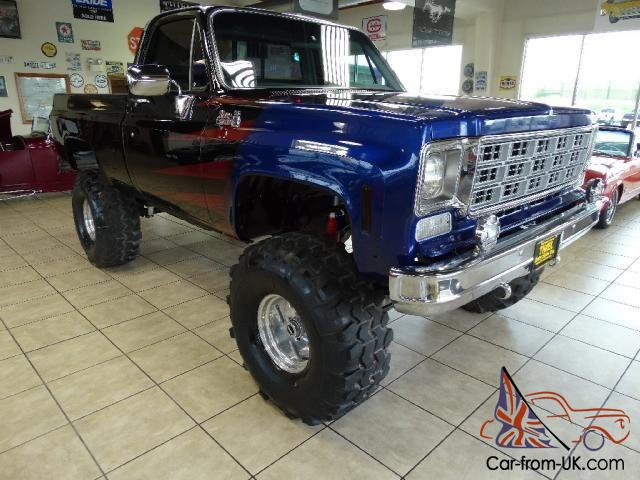 short bed swb 4x4 frame off restored show truck gmc chevy must see 76 78. Black Bedroom Furniture Sets. Home Design Ideas
