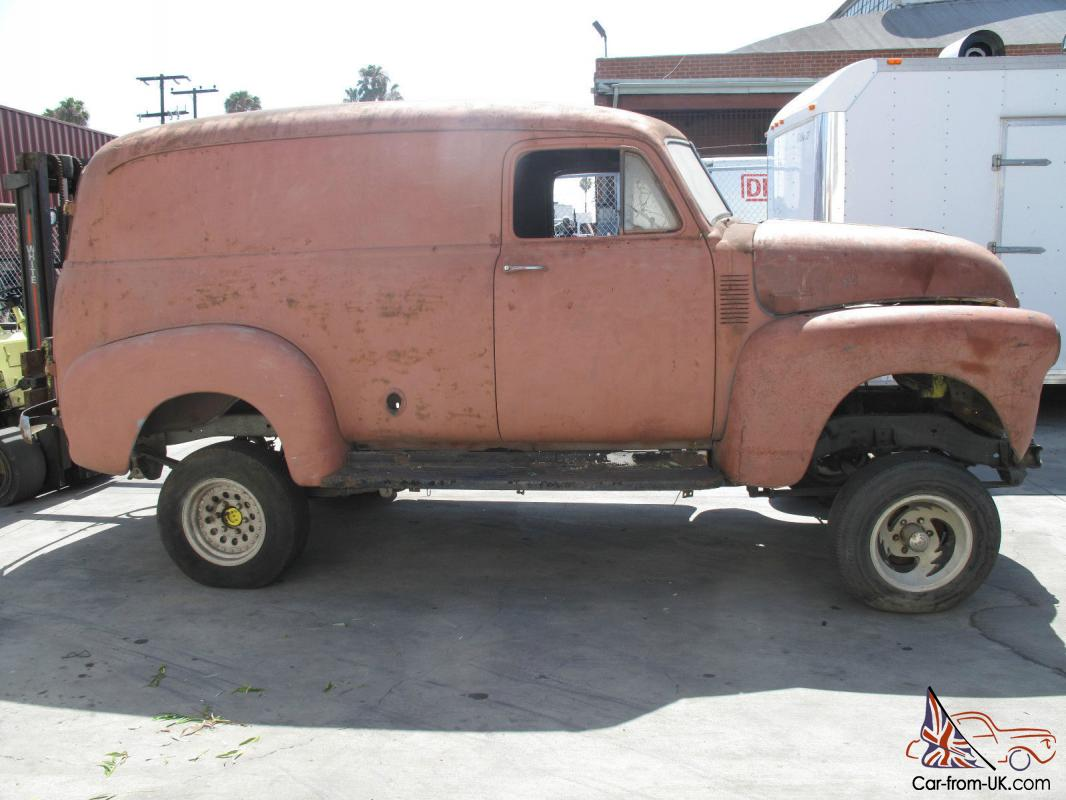 Rust Free Chevy Panel Truck Very Cool Project gmc rat rod