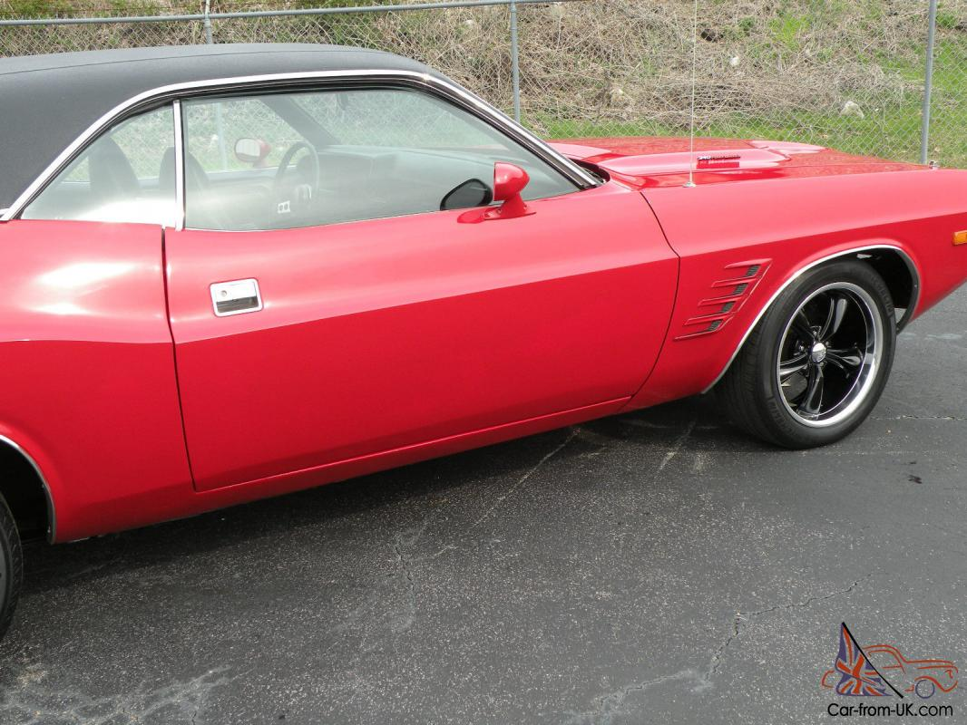 1973 Dodge Challenger Matching Numbers 340 Factory Air Red With Black Interior