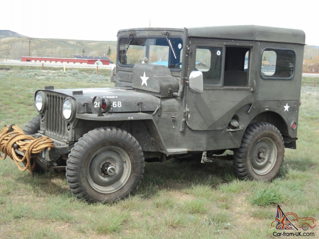 1951 us army jeep willys military original overland jeep arctic top extras. Black Bedroom Furniture Sets. Home Design Ideas