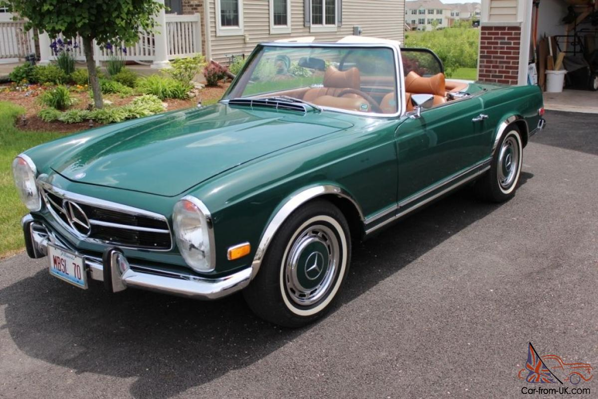 1970 mercedes 280sl convertible with hard soft top fresh overhaul excellent. Black Bedroom Furniture Sets. Home Design Ideas