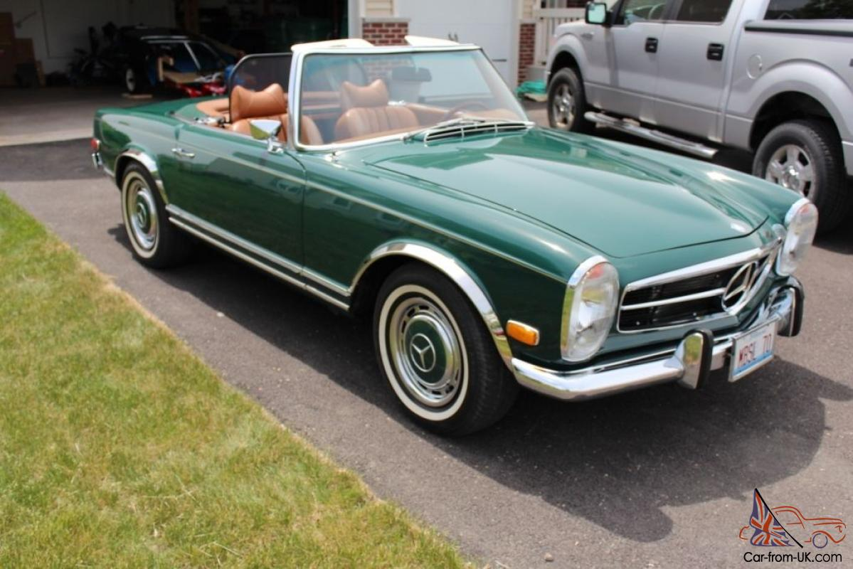 1970 mercedes 280sl convertible with hard soft top for Mercedes benz convertible tops