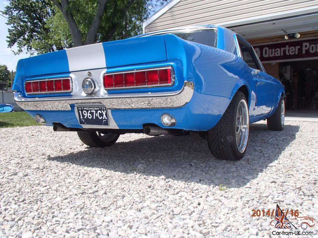 1967 MUSTANG COUPE GT SHELBY ELEANOR RESTOMOD CLONE