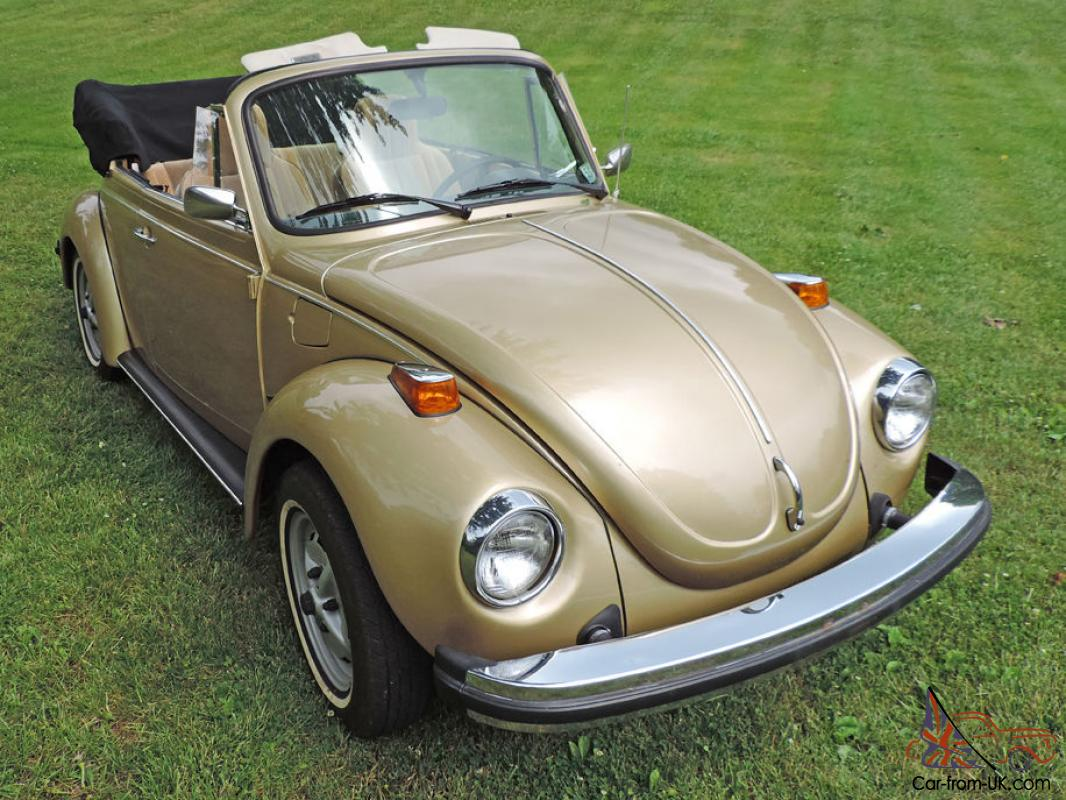 1974 volkswagen super beetle limited edition gold sun bug. Black Bedroom Furniture Sets. Home Design Ideas