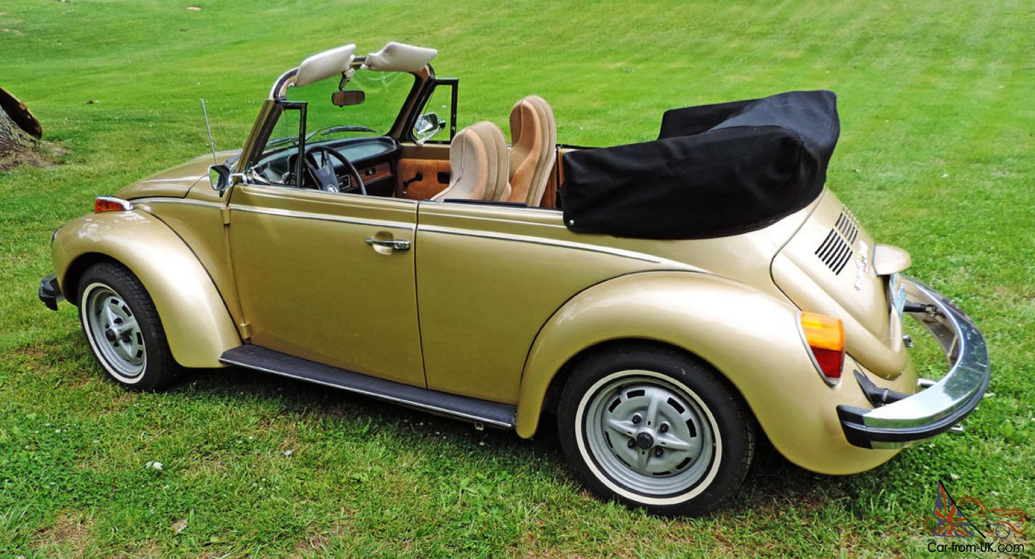 1974 Volkswagen Super Beetle Limited Edition Gold Sun Bug Convertible 1969 Bronco Fuse Box