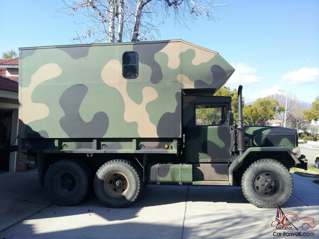 4x4 RV Military truck with camper for sale