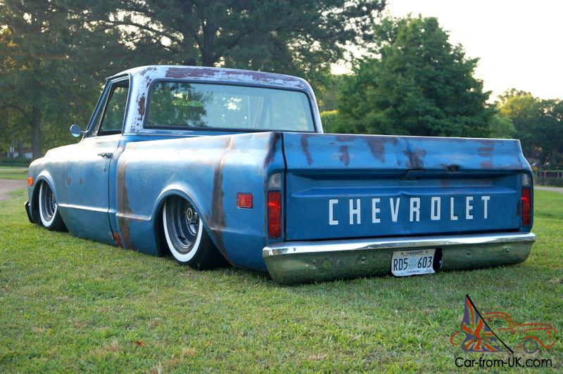 Chevy 350 Engine Mounts 1970 C10, awesome blue patina, custom rear frame and air ...