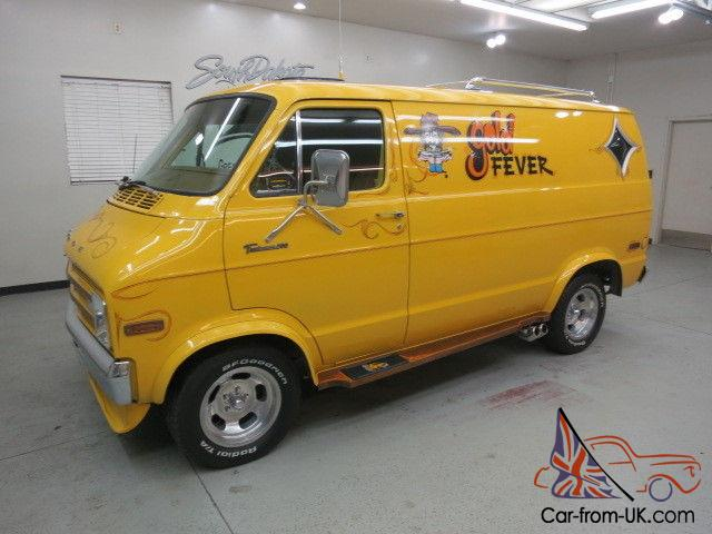 1977 Dodge B 200 Custom Van Quot Gold Fever Quot All Orig Except
