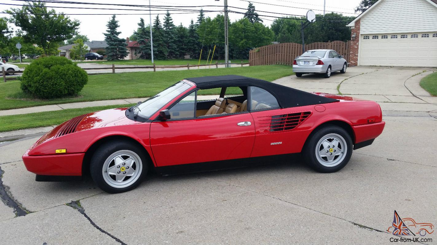 1988 ferrari mondial cabriolet 26 000 miles check this out. Black Bedroom Furniture Sets. Home Design Ideas