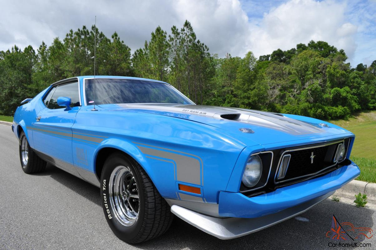 1973 mustang mach 1 q code show car mca grand national first place winner
