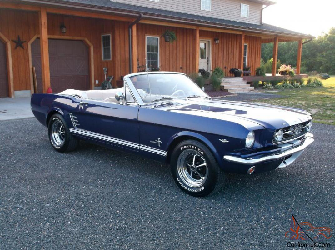 1966 ford mustang convertible 289 automatic very nice classic. Black Bedroom Furniture Sets. Home Design Ideas