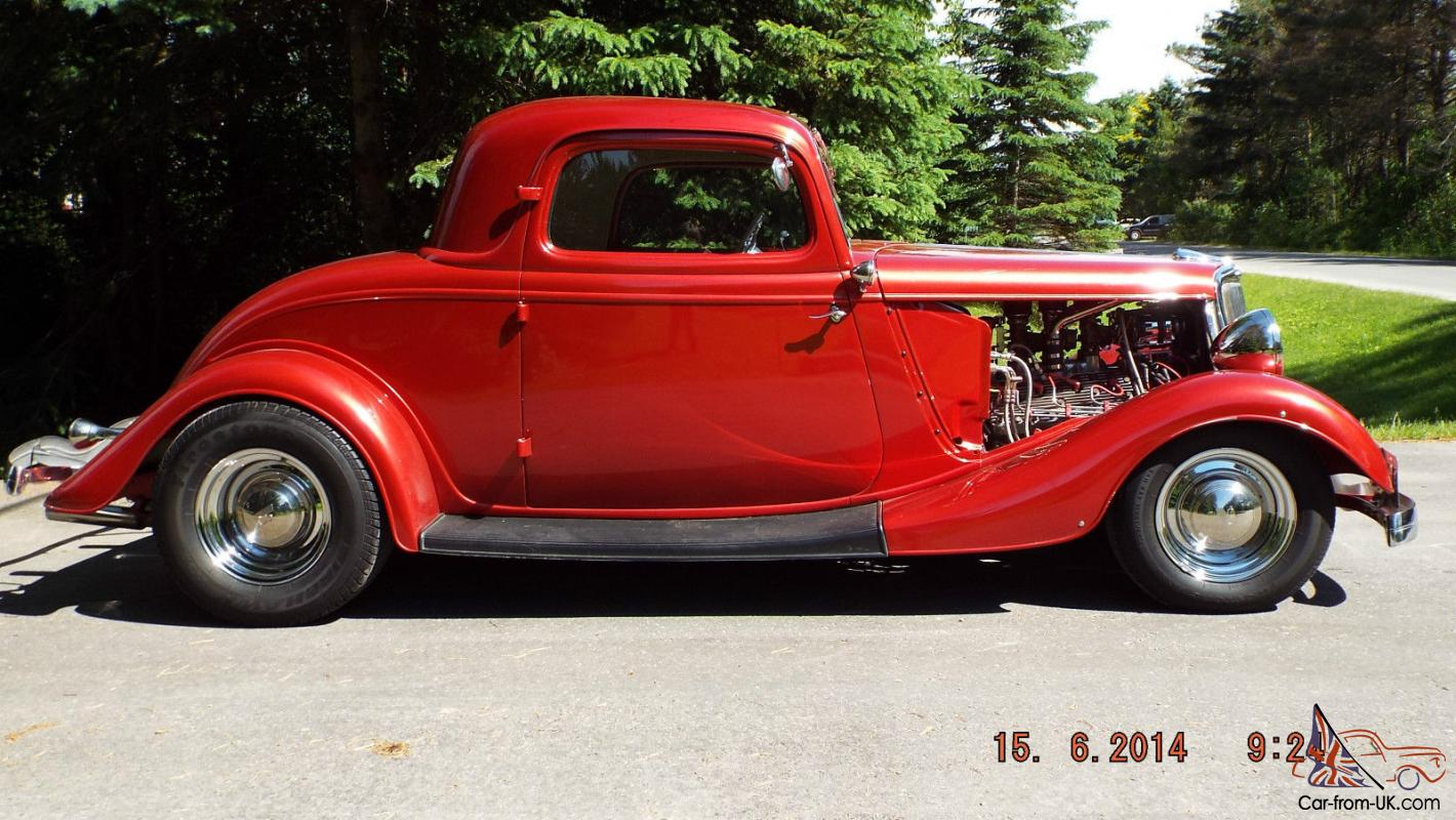 1934 ford steel 3 window coupe v 8 flat head hot rod
