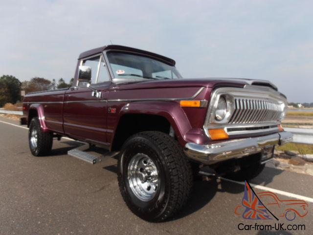 1978 jeep j10 pickup big purple gorgeous restored. Black Bedroom Furniture Sets. Home Design Ideas