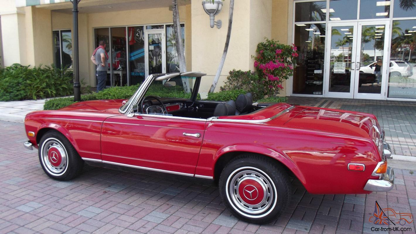 1970 mercedes benz 280 sl red with black two tops for 1970 mercedes benz