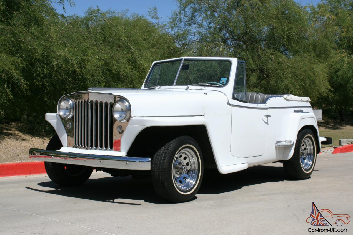 1949 Willys Jeepster Rebuilt 350 V8 With Turbo 350 Auto Trans