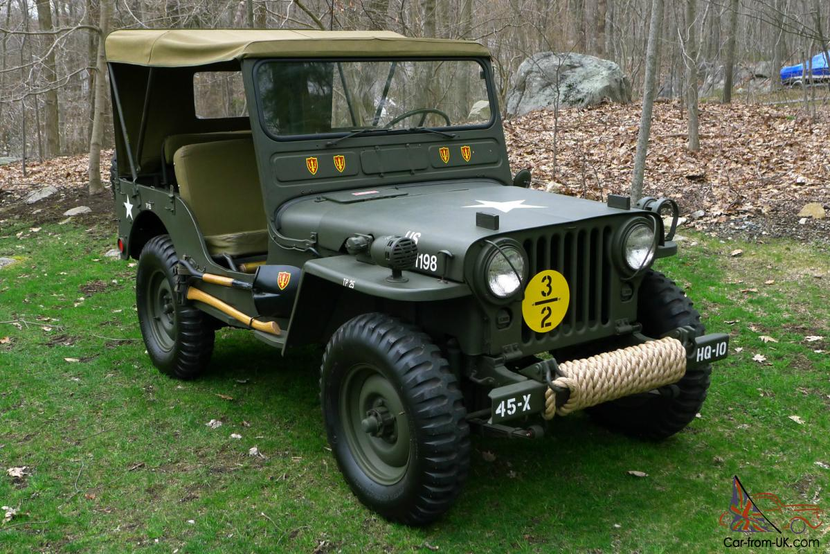 1951 willys m38 fully restored antique army military jeep american classic. Black Bedroom Furniture Sets. Home Design Ideas