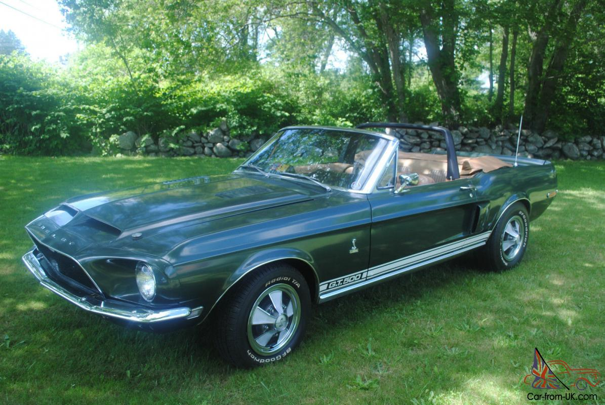 1968 shelby gt 500 convertible one of 402 shelby cobra convertibles. Black Bedroom Furniture Sets. Home Design Ideas