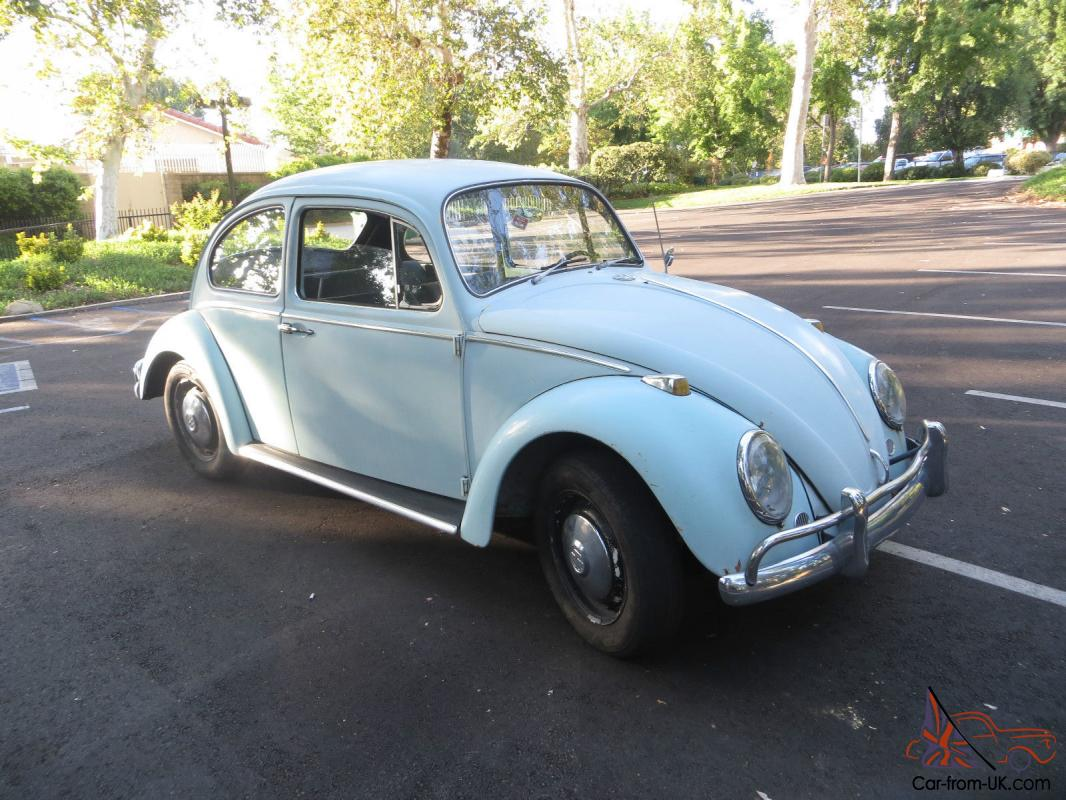 classic vw beetle bug bahama blue coupe 1966 classic. Black Bedroom Furniture Sets. Home Design Ideas