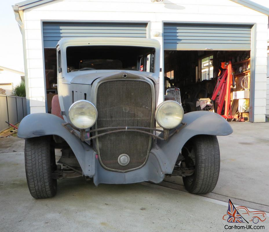 Rare 1932 Chevrolet 4 Door Sedan Steel RAT ROD HOT ROD Project 3 4 ...