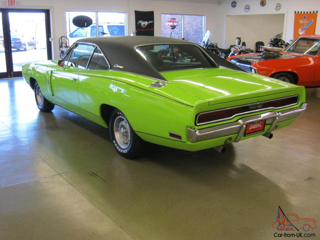1970 dodge charger rt sublime green original 440 ci 375
