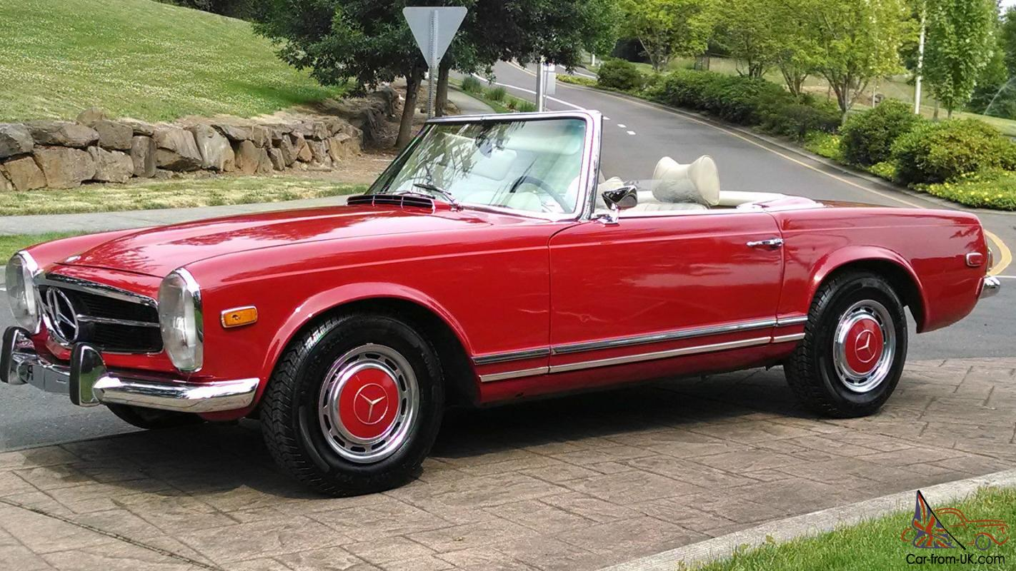 1970 mercedes benz 280sl roadster 4 speed convertible. Black Bedroom Furniture Sets. Home Design Ideas