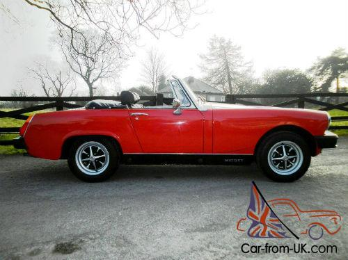 1976 mg midget 1500 in vermillion red with black interior. Black Bedroom Furniture Sets. Home Design Ideas
